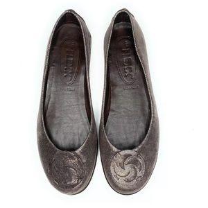 The Flexx Ballet 7 Flat Bon Bon Shoe Leather
